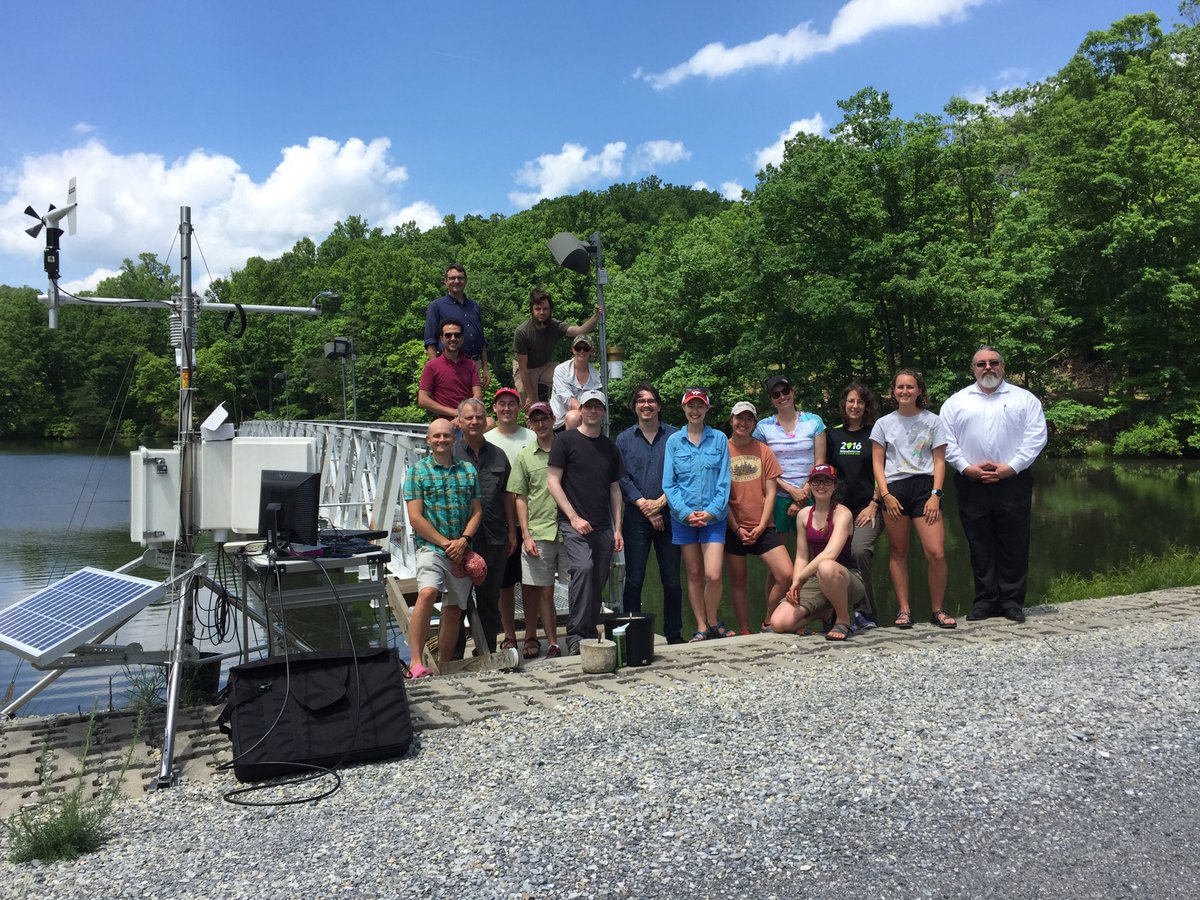 Capping off an amazing 1st workshop of our SmartReservoir.org team & managers at #FallingCreekReservoir @NSF_CISE @GLEONetwork @globalchangevt @vt_science #Smart&ConnectedCommunities @vt_biology @vt_cnre