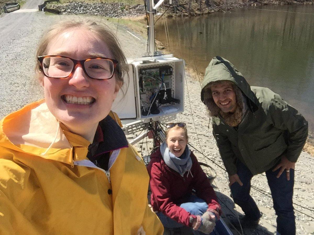Computer science + limnology = sensored water quality data for managers at #FallingCreekReservoir